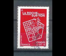 Superbe Timbre Gommé La Roche Sur Yon 2020 Oblitérée TTB PCD Rond - Used Stamps