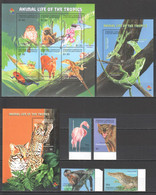 AA358 2001 GRENADA CARRIACOU FAUNA ANIMAL LIFE OF THE TROPICS !!! KB+SET+2BL MNH - Altri