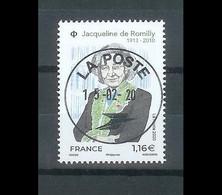 Superbe Timbre Gommé 5380 Jacqueline De Romilly 2020 Oblitérée TTB PCD Rond - Used Stamps