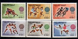 MAROC 1968  Y&T N° 572 à 577 SERIE COMPLETE 6 VALEURS N** SPORTS - Morocco (1956-...)