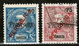 Zambézia, 1914, # 79/80, MNG And Used - Zambèze