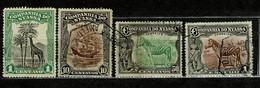 Companhia De Nyassa, 1921/3, # 108, 117, 122/3, Used - Nyassaland