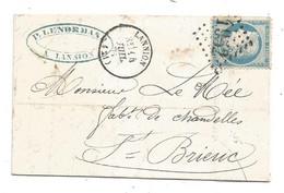 - COTES DU NORD - LANNION - GC.1952 /N°37 Siège + Càd Type 17 - 1871 - 1870 Siège De Paris