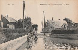 ANDEVILLE - RUE D'ANGLETERRE - LA MARE - CARTE ANIMEE - - Unclassified