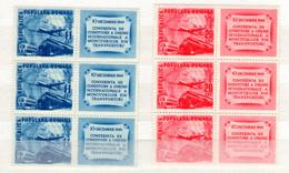 Romania / Rumänien  Michel # 1193 - 94 ZF  **  6-er Bogen - Neufs