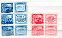 Romania / Rumänien  Michel # 1193 - 94 ZF  **  4-er Block - Neufs