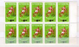 Romania / Rumänien  Michel #  2095 **  10-er Bogen Seitenrand - Neufs