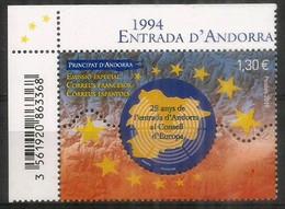 ESPAÑA-FRANCIA-ANDORRA. Consejo De Europa.,emisión Conjunto. Un Nuevo Sello ** 2019  (FR) - Unused Stamps