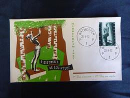 """BELG.1957 1024 FDC ( Antwerpen )  : """" Beeldhouwkunst """" - 1951-60"""