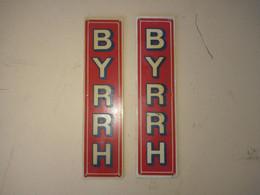Paire De Plaque De Propreté Ancienne Publicitaire Byrrh - Alcools