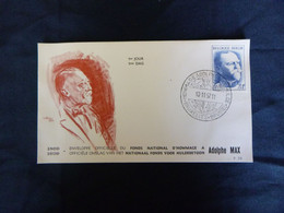 """BELG.1957 1037 FDC ( Bruxs )  : """" Adolphe Max """" - 1951-60"""