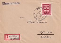 ALLEMAGNE 1943 LETTRE RECOMMANDEE DE BERLIN AVEC CACHET ARRIVEE HALLE - Covers & Documents