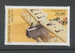 Biplan Breguet XIV. PA N°61 20f Multicolore Dentelé 13x13 1/2 Sans BDF YA61b - 1960-.... Mint/hinged