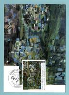 Carte Maximum 1987 - Camille Bryen  - YT 2493 -  Paris - 1980-89
