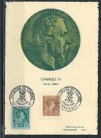 HZ-/-050- CARTE MAXI De La JOURNÉE Du TIMBRE De 1948 + N° 4 , TTB ,  IMAGE DU VERSO SUR DEMANDE - Usados