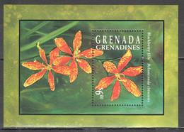 AA380 GRENADA GRENADINES PLANTS FLOWERS BLACKBERRY LILY 1BL MNH - Altri