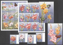 AA381 GRENADA GRENADINES FLORA FAUNA NATURE FLOWERS BUTTERFLIES 2KB+2BL+1SET MNH - Altri