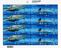 Portugal - Azores - 2004 - Marine Fauna - Stamp Salon In Paris - Mint Stamp Sheetlet - Azores