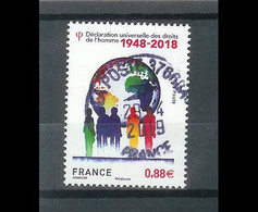 Superbe Timbre Gommé 5290 70ème Anniversaire De La Déclaration Des Droits De L'homme 2018 Oblitérée TTB PCD Rond - Used Stamps