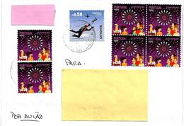 PORTOGALLO - 2021 Lettera Per L'Italia Con 6 Francobolli (quartina Feste Popolari, Paracadutisti) - 4776 - Covers & Documents