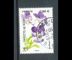 Superbe Timbre Gommé 5321 Violette De Rouen 2019 Oblitérée TTB PCD Rond - Used Stamps