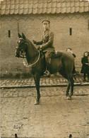 CARTE PHOTO SOLDAT A CHEVAL - Guerra 1914-18