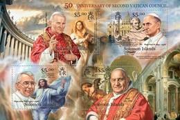 SOLOMON ISLANDS 2013 SHEET VATICAN COUNCIL PAPES PAPAS POPES RELIGION JOHN PAUL II Slm13112a - Islas Salomón (1978-...)