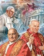 SOLOMON ISLANDS 2013 SHEET VATICAN COUNCIL PAPES PAPAS POPES RELIGION JOHN PAUL II BENEDICT XVI Slm13112b - Islas Salomón (1978-...)