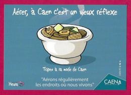 CPM.    Humour-Covid.    Aérer, à Caen C'est Un Vieux Réflexe !     Heula éditions.    Postcard. - Humour