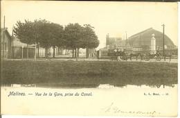 "CP De Malines ( Mechelen ) "" Vue De La Gare , Prise Du Canal "" - Mechelen"