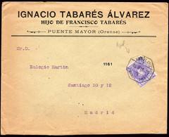 """España - Edi O 246 - Carta Mat """"Ambulante I  - 1 - Monforte - Vigo"""" (azul) - Cartas"""