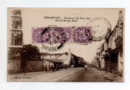 Singapour : Boulevard Du Pont Sud  1930 - Singapour