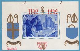 Bloc N°20**, Orval Caractères Gotiques Numéroté Avec Surcharge Déplacée Sur Le Timbre Neuf Sans Charnière - Blokken 1924-1960