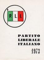Tessera - PARTITO LIBERALE ITALIANO 1973 - Non Classés