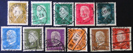 Germany - 1928 - Mi:DR 410-12X,414-21  Yt:DR 401-3,405-12 - Look Scans - Usati