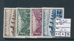 SERBIA GERMAN OCCUPATION YVERT 31/34 LH - Serbien