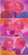 Serie 5 CP Surrealisme Couleur Hyper Vive Couple Baiser - Other