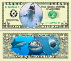 USA 1 Million Dollar Novelty Banknote 'Shark - Great White' - Marine Life Series - UNC - Other - America