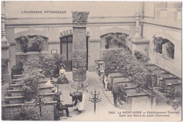 63. LE MONT-DORE. Etablissement Thermal. Salle Des Bains De Pieds (Hommes). 3366 - Le Mont Dore