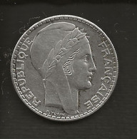 FRANCE / Monnaie Pièce 20 Francs 1938 TURIN Argent - L. 20 Francos
