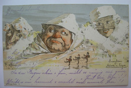 Künstler-AK Sign. E. Hansen / Emil Nolde, Killinger Nr. 7: Jungfrau, Mönch U. Eiger,1897 - Unclassified