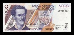 Ecuador 5000 Sucres Juan Montalvo 26.03.1999 Pick 128c Serie AÑ SC UNC - Ecuador
