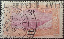 """R2062/839 - 1929 - COLONIES FR. - COTE DES SOMALIS - N°119 ☉ Oblitérations """" 1 SERVICE AVION """" / CàD Du 29.2 AVION 1929 - Gebraucht"""