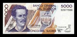 Ecuador 5000 Sucres Juan Montalvo 12.07.1999 Pick 128c Serie AO SC UNC - Ecuador