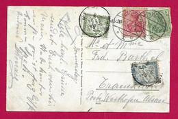Écrit Taxé En Langue Allemande Daté De 1920 - Radium Solbad Kreuznach - Voyagé Vers Westhoffen En Alsace - Brieven En Documenten