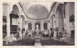 SAINT-CEZAIRE SUR SIAGNE - Intérieur De L'Eglise - Otros Municipios