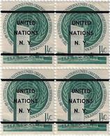 UNITED NATIONS, PRECANCEL 2a IN BLOCK OF 4, CV €304.00 - Unclassified
