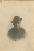 CARTE PHOTO SOLDAT AUSTRALIEN 8TH BATAILLON A.I.F. 1916-1919 - Oorlog 1914-18