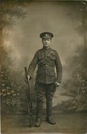 CARTE PHOTO  SOLDAT VETERINARY CORPS - Oorlog 1914-18