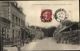 CPA Henrichemont Cher, Grande Rue A La Borne, Un Four - Other Municipalities